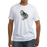 Turkey Poult Blue Slate Fitted T-Shirt