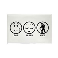 Eat Sleep Hike Rectangle Magnet