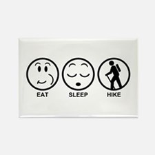 Eat Sleep Hike Rectangle Magnet