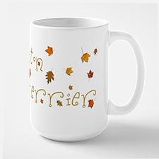 BOSTON TERRIER LEAVES Mug