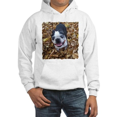 BOSTON TERRIER LEAVES Hooded Sweatshirt
