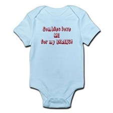 Cute Zombies love me for my extra brains Infant Bodysuit