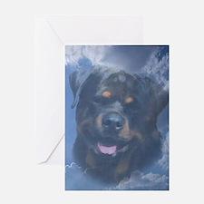 Rottweiler Sympathy Card (message inside)