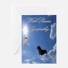 Rottweiler Sympathy Card (blank inside)