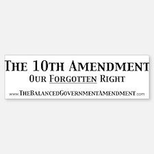 Forgotten Right (Bumper Sticker)