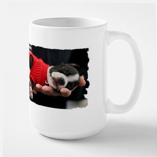 BOSTON TERRIER BABY Large Mug
