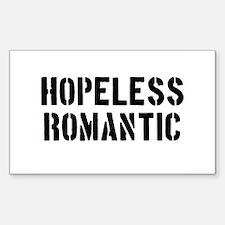Hopeless Romantic Sticker (Rectangle)