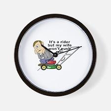 My Wife Won't Push Me Wall Clock