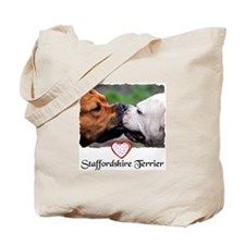 STAFFORDSHIRE TERRIER LOVE Tote Bag