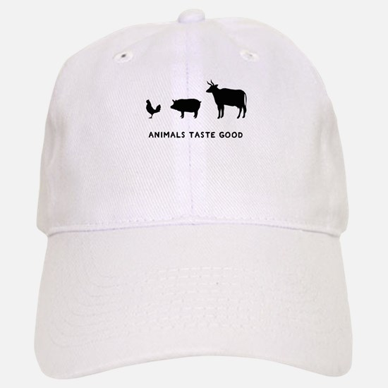 Animals Taste Good Baseball Baseball Cap