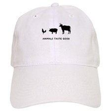 Animals Taste Good Baseball Cap