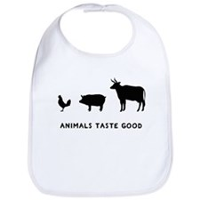 Animals Taste Good Bib