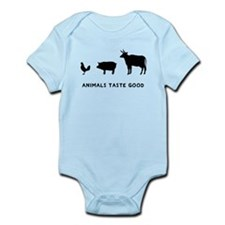 Animals Taste Good Infant Bodysuit
