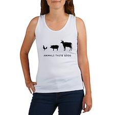 Animals Taste Good Women's Tank Top