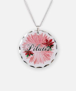Pilates Pink Snow Flower Necklace