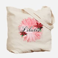 Pilates Pink Snow Flower Tote Bag
