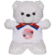 Pilates Pink Snow Flower Teddy Bear