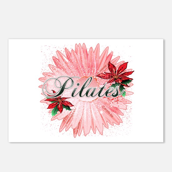 Pilates Pink Snow Flower Postcards (Package of 8)