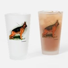 German Shepherd Obedience Sta Drinking Glass