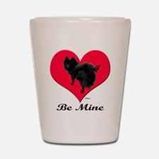 A Black Pomeranian Valentine Shot Glass