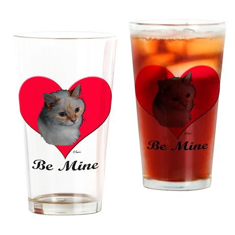 Kekoe the cat's Valentine Drinking Glass