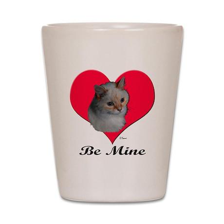 Kekoe the cat's Valentine Shot Glass