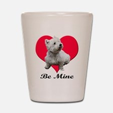 Sitting Westie Shot Glass