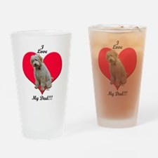Golden Doodle Love Dad Drinking Glass