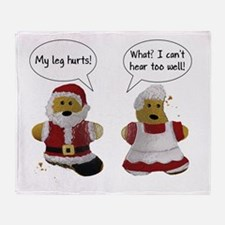 My leg hurts! What? Santa Throw Blanket