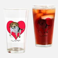 Daisy the Beagle Drinking Glass
