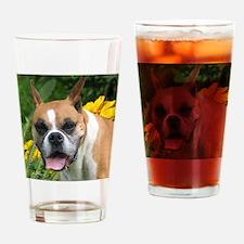 Boxer Portrait Drinking Glass