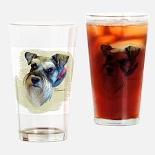 Billi the Schnauzer Drinking Glass
