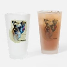 I Love My Schnauzer Clothing Drinking Glass