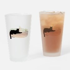 Cat & Finch Drinking Glass