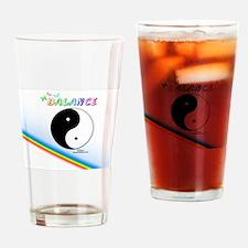 Yin Yang Sign Drinking Glass