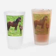 Mini Pinto Stallion & Daughte Drinking Glass
