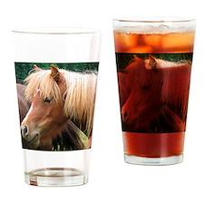 Classic Mini Horse Portrait Drinking Glass