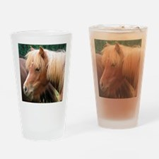 Classic Mini Horse Portrait Drinking Glass