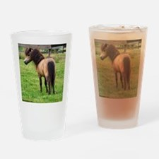 Miniature Horse Buckin Velvet Drinking Glass