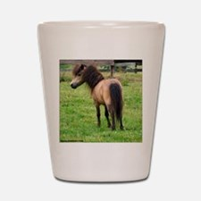 Miniature Horse Buckin Velvet Shot Glass