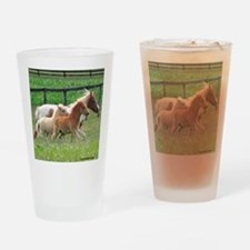 Three Mini Horses Running Drinking Glass