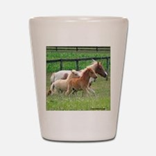 Three Mini Horses Running Shot Glass