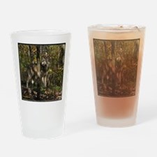 Wolf in Trees Drinking Glass
