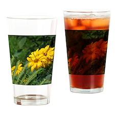 Yellow Daisy Drinking Glass