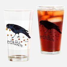 Primitive Crow Drinking Glass
