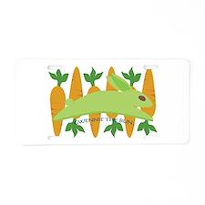 Gwennie The Bun Carrots Aluminum License Plate