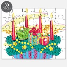 Unique Merry christmas candle Puzzle