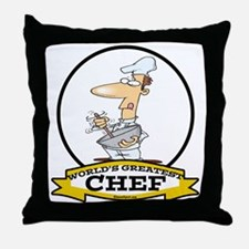 WORLDS GREATEST CHEF Throw Pillow