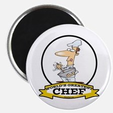 "WORLDS GREATEST CHEF 2.25"" Magnet (100 pack)"