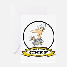 WORLDS GREATEST CHEF Greeting Card